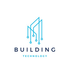 building tech logo icon vector image