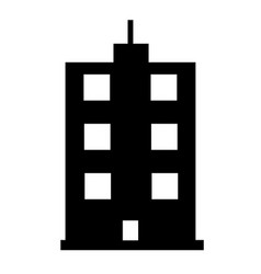 buildings icon on white background flat style vector image