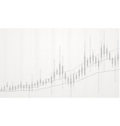 Business candlestick chart growth vector