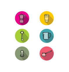 coffee shop icon logo vector image