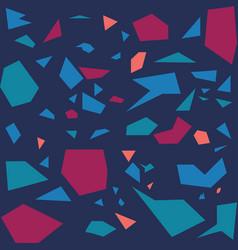 Colorful terrazzo pattern vector