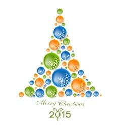 Creative concept fir tree from Christmas balls vector image