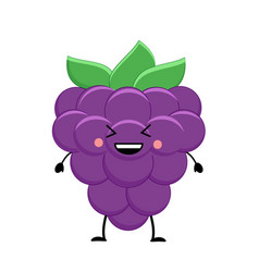 cute cartoon blackberry kawaii blackberry vector image