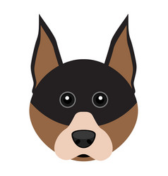 Cute doberman dog avatar vector