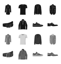 Design man and clothing symbol set of vector