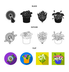 Design spring and wreath sign vector