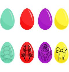 easter eggs ornament eps8 vector image