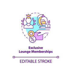 Exclusive lounge memberships concept icon vector