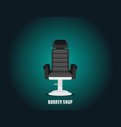 flat barbershop vector image