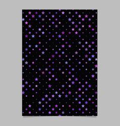 Geometrical pentagram star pattern poster vector