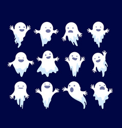 ghost halloween spooky phantom scary spirits vector image