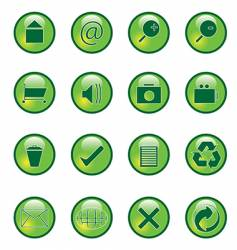 glossy webbuttons vector image