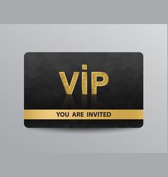 Golden vip card vector