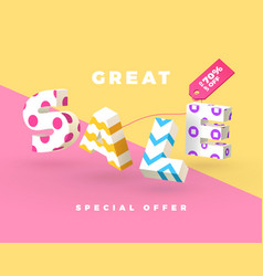 great sale 3d sign vector image