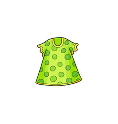green summer polka dotted dress for a little girl vector image