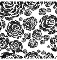 grunge rose pattern vector image
