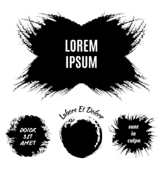 Hand-drawn grunge logo designs vector