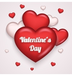 Heart Realistic 3d Valentine Day Symbol vector