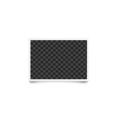 horizontal rectangular checkered empty template vector image