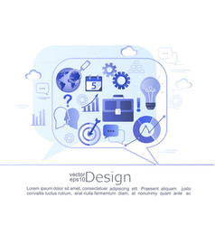 infographic concept business consulting vector image