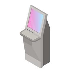 Kiosk icon isometric style vector