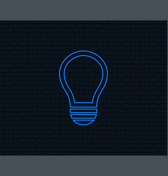 light lamp sign icon idea symbol vector image