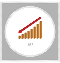 Loss chart5 vector image