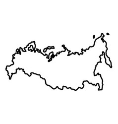 map of russian icon black color flat style simple vector image