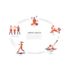 mental health - communication yoga read vector image