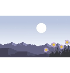 Mountain at spring landscape vector image