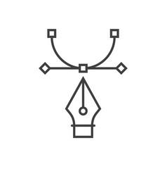pen tool icon vector image