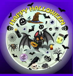 poster on theme of the halloween holiday party vector image