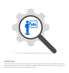 presentation on business growth icon search glass vector image