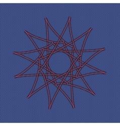 Sacred geometry pattern in Arabic pattern vector image
