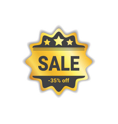 sale label big shopping discount golden seal vector image