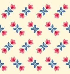 Scandinavian flowers - seamless tulips pattern vector image