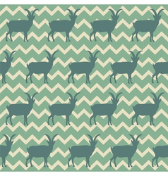 seamless pattern with goats symbol 2015 vector image