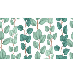 seamless texture flat eucalyptus populus on a vector image