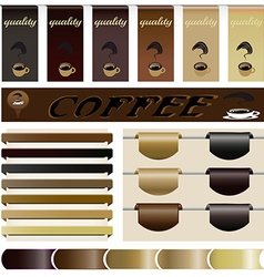 Set website the coffee vector image