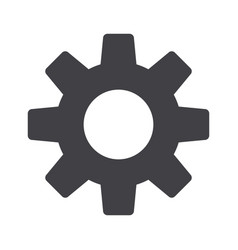 setting icon tools cog gear sign isolated on vector image