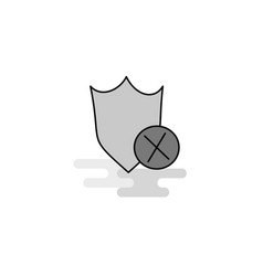 shield web icon flat line filled gray icon vector image