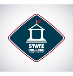 state college concept icon vector image