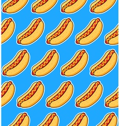 sticker hot dogs vector image