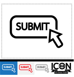 submit icon vector image