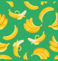 summer exotic pattern with yellow bananas flowers vector image