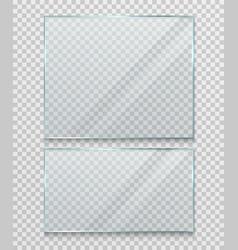 Transparent glass banner frame vector