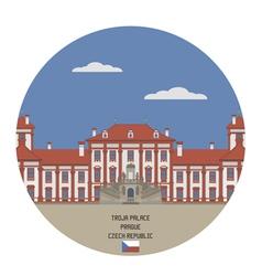 Troja palace prague vector