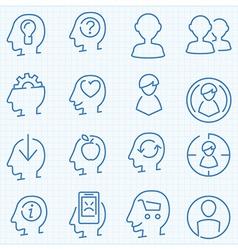 Universal peaople theme GUI icons set vector image