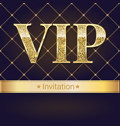 Vip premium invitation card poster or flyer vector
