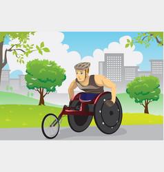 wheelchair athlete vector image